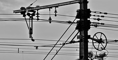 High Voltage (Oliver3178) Tags: city train underground subway metro poteau tension ville highvoltage rer voltage ter électrique hautetension