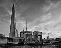 The Shard (photocumbria) Tags: city sky bw london thames clouds buildings river fuji pentax shard 400cn pentax6x7 pentax67