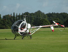 HUGHES 269C G-RIFB (BIKEPILOT) Tags: flying airport aircraft aviation helicopter airfield fairoaks egtf hughes269c grifb