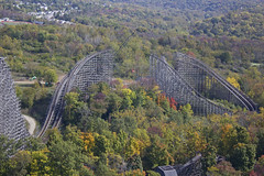 Roller Coaster Tycoon!! (godpasta) Tags: autumn ohio fall autumnleaves autumncolors rollercoaster kingsisland sonofbeast dismantled woodenrollercoaster