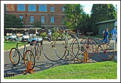 Oldtime bicycles at Glenmoor (sjb4photos) Tags: ohio antiquebicycles alltypesoftransport 2012glenmoorgathering