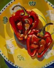"Peppers on a Plate • <a style=""font-size:0.8em;"" href=""http://www.flickr.com/photos/77881881@N06/8044149374/"" target=""_blank"">View on Flickr</a>"