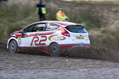 Ford Fiesta R2 - Trackrod Rally Yorkshire 2012 (Chris McLoughlin) Tags: action sony rally motorsport chrismcloughlin fordfiestar2 jonathancunningham slta77 tracktod martincuningham