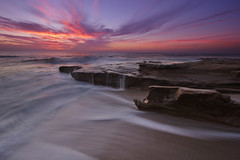 Ebb and Flow (Shawn S. Park) Tags: california sunset cloud beach rock canon sandiego lajolla 5d shawn 1635 ef1635mmf28lii eos5dmarkii drapervillas