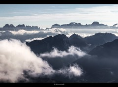 heavenly views (bernd obervossbeck) Tags: italien italy mist alps silhouette fog clouds landscape nebel wolken alpen landschaft dolomites sdtirol southtyrol dolomiten landscapephotography landschaftsfotografie mygearandme mygearandmepremium