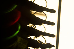 Care for some wine? (Gilles 1972) Tags: shadow red white color green lines nikon wine bottles nikond70 projection vin vino winerack wijn flessen wijnrek