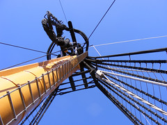 H.M.S.Victory - Part of the rigging (MPullin) Tags: ship mast ropes dockyard