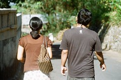 Capturing Their Daily Life #1 (kalifadani) Tags: camera flower art analog photo couple olympus yogya miro dito gardem is2