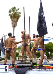 IMG_6232 (danimaniacs) Tags: losangeles westhollywood gay pride parade hot sexy man guy stud shirtless bikini speedo swimsuit trunks back pole dance tattoo float