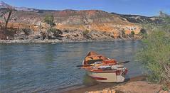 On_da_'STONE-sm (Guyser1) Tags: river landscape fishing scenic flyfishing hdr yellowstoneriver driftboat