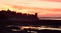 St Andrews Castle sunset (heidiblanksma) Tags: sunset st andrews castle scotland standrews history dramatic landscape red orange holiday nikon d5300 beauty outdoors