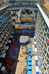 Allure of the Seas Zipline (Infinity & Beyond Photography) Tags: royalcaribbean allureoftheseas cruiseship cruise lines liner boat ship zipline atrium balconies