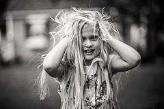 Electric. (aamith) Tags: hair static blackandwhite monochrome bnw bw portrait bokeh dof