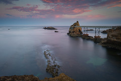 Le rocher de la Vierge (JMS') Tags: paysage ocan paysbasque basque biarritz atlantique france soleillevant rocherdelavierge poselongue leefilters lee longexposure seascape landscape littlestopper nd gnd canon beach water sky nature