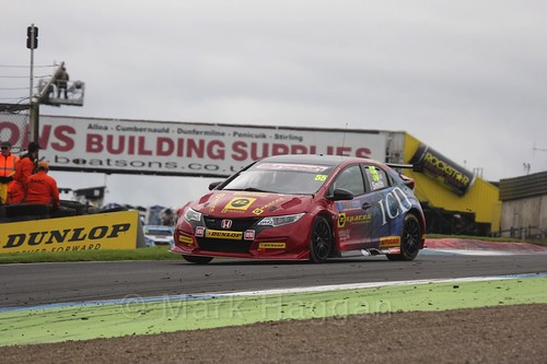 Jeff Smith in BTCC race 2 during the Knockhill Weekend 2016