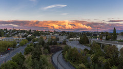 Shooting Away from the Sunset (dr_stan3) Tags: sunset clouds sky joserizalbridge beaconhill seattle color canon eos 6d 2470mm ef2470mmf28liiusm f8 33mm outdoor landscape