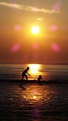 20160816_205645 (pic2head) Tags: bretagne bzh couchdesoleil mer sun sand sunset ocan sea child game