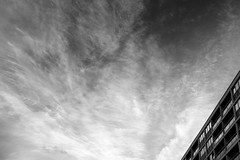 Mid Century skyline (Andrew Malbon) Tags: clouds bw blackwhite midcentury leica leicam9 m9 summilux 35mmf14 lee leendgrad lee06ndsoftgrad architecture modernism appartment flats portsmouth southsea southseacommon