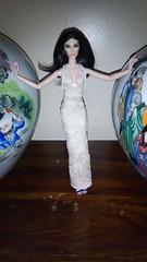 Asian Nite (JasperPoP) Tags: elise jolie fashion royalty dolls cute barbie high gown nude lace asian nite dress couture kendal jenner kim kardashian kourtney
