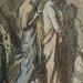 CHASSERIAU Théodore,1840 - Diane et Actéon, Etude (drawing, dessin, disegno-Louvre RF24456) - Detail 14
