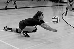 IMG_3739-01 (SJH Foto) Tags: girls volleyball action shot high school somerset pa pennsylvania scimmage black white blackandwhite bw monocolour dig dive bump