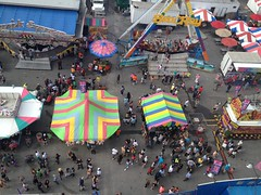 A Bird's Eye View Up To The Sky Flying Carnival Outdoors Sky Outside Summer Paintwithlight (DianaMRamirez1111) Tags: abirdseyeview uptothesky flying carnival outdoors sky outside summer paintwithlight