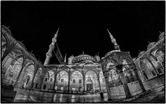 Blue Mosque@night (Sean X. Liu) Tags: bluemosque istanbul sultanahmedmosque turkey blackandwhite blackwhite mosque monochrome