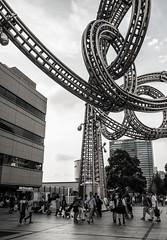 Moku Moku Waku Waku, Yokohama Landmark Plaza (Caroline) Tags: hiyasukimogami art sculpture steel stainless