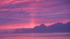 Another World In The Clouds (Katie_Russell) Tags: portrush coantrim countyantrim ni ireland nireland northernireland ulster norniron sky cloud clouds sun sunset pink purple