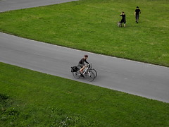 The quiet park (Giangaleazzo) Tags: dresden dresda germania germany green verde nikon coolpix road bike run rest parco park p7100 colour three minimalism dog cane walk ride