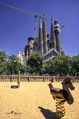 Sagrada Familia (iosif.michael) Tags: sony a7 batis architecture sagradafamilia playground bracespain europe travel summer sky blue