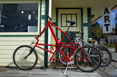 Three in one (Eric Flexyourhead) Tags: laconner skagitcounty washington usa shop store bike bicycle custom modified tallbike ricohgr