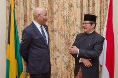 His Excellency the Most Hon. Patrick Allen, Receives Letters of Credence from Ambassador-designate of the Republic of Indonesia, His Excellency, Alfred Palembangan