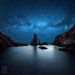 Stunning starlight sky at the edge of the World (CISSO) Tags: galaxie voie lacte paysage sky nature