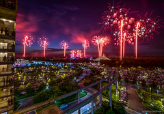 The 4th (orlandobrothas) Tags: walt disney world magic kingdom fireworks 2016 july fourth long exposure night contemporary hotel red white blue cinderella castle space mountain tomorrowland