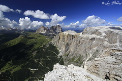 Gruppo del Sella (Luca Bobbiesi) Tags: sella mountain dolomites alpi dolomiti pordoi sassolungo landscape panorama mountainscape canoneos7d canonefs1022mmf3545usm