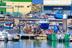 154 - Nazar, le port (paspog) Tags: nazar portugal port hafen ocan ocean ocanatlantique atlanticocean bateaux boasts