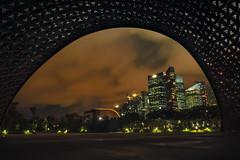 Huge Frame (elenaleong) Tags: gbb thefutureofusexhibition skyline nightscape cloudy le architecture elenaleong