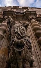 External Stonework - Parroquia de la Mare de Deu de Betlem Church - Barcelona (2) (Panasonic Lumix LX100 Compact) (1 of 1) (markdbaynham) Tags: barcelona city urban metropolis spain spainish espana espanol catalan panasonic lumix dmc dmclx100 lx100 compact 2475mm f1728 zoom lumixer church stonework parroquia de la mare deu betlem gothic quarter barri gotic