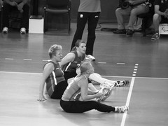 Ukraine V Holland Women's Sitting Volleyball Paralympics Excel Centre London Sept 2012 V (symonmreynolds) Tags: blackandwhite white black holland london ukraine september 2012 paralympics london2012 excelcentre womenssittingvolleyball