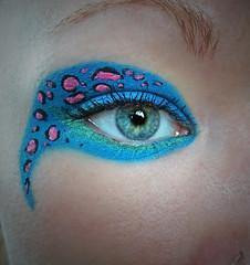 Leo Pard 2 (Jenface) Tags: pink blue green make up print leo makeup leopard pard