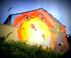 New mural in Preston (3) (Tony Worrall) Tags: street urban streetart building art wall corner graffiti big mural paint artist northwest painted tag large spray lancashire streetartist huge preston adelphi moot teaone prestonian reasm ©2012tonyworrall