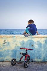 Kopf hoch kleiner (Maik Irmscher) Tags: ocean sunset beach bike strand mexico meer mujeres isla fahrrad ausblick karibik ozean