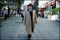 Geezer Wednesday Presents - An Englishman in Town (jonron239) Tags: man london smart walking coat suit trilby geezer dapper