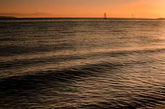 Orange Solent (Mark J Hall) Tags: seascape solent gosport sailingboat stokesbay