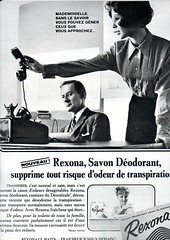 The 1960s-1964 Match ad for Rexona deodorant (april-mo) Tags: soap ad deodorant 1964 the60s vintagead the1960s 1964ad vintagefrenchmagazine 1964frenchmagazine rexonasoap 1964rexona