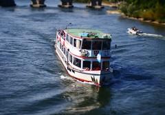 (haraldinho) Tags: river boot boat olympus regensburg danau tiltshift m43 mft microfourthirds