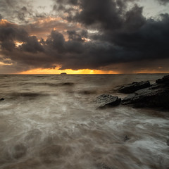 Storm clouds over Steep Holm (images through a lens) Tags: uk sunset england cloud water europe unitedkingdom britain tide stormy somerset westonsupermare marinelake northsomerset steepholm wesston westonsmare