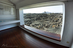 El Taro de Tahche (Jordi Pay Canals) Tags: window rock canon landscape outside eos lava islands view lanzarote canals fisheye inside canary jordi 8mm csar manrique teguise solidified fundacin samyang tahche 450d pay