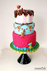 Lalaloopsy Birthday Cake (ConsumedbyCake) Tags: birthday cakes cookies cake by toys sussex cupcakes worthing brighton dolls cone sticky icing jelly jiggle bun waffle whimsical wiggle consumed scoops consumedbycake lalaloopsy lalaloopsies